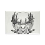 Whitetail Euro Mount Rectangle Magnet (10 pack)