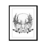 Whitetail Euro Mount Framed Panel Print