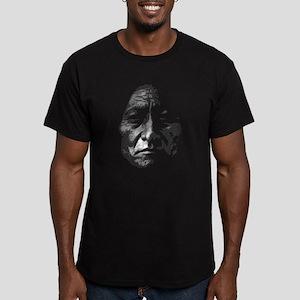Sitting Bull Men's Fitted T-Shirt (dark)