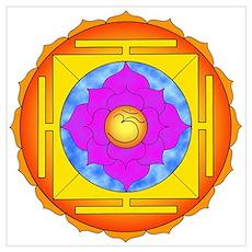 Om Lotus Yantra Poster