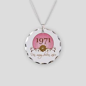 1971 Spanish Year Necklace Circle Charm
