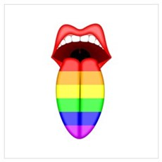Rainbow Tongue Poster