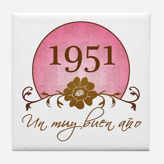1951 Spanish Year Tile Coaster