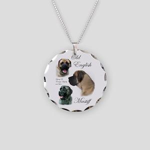 Old English Mastiff Necklace Circle Charm
