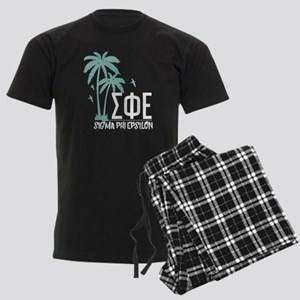 Sigma Phi Epsilon Palm Tree Men's Dark Pajamas