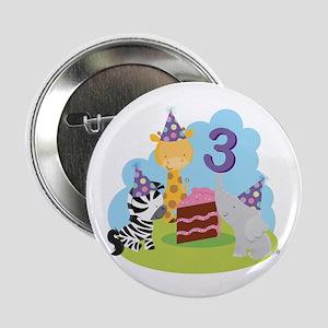 "3rd Birthday Zoo Animals 2.25"" Button"