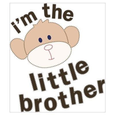 little brother monkey Poster