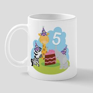 5th Birthday Zoo Animals Mug