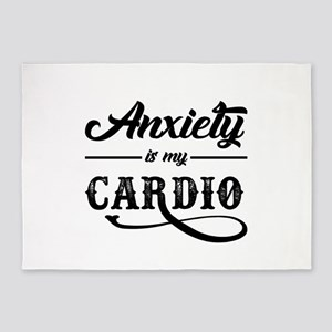 Anxiety Is My Cardio 5'x7'Area Rug