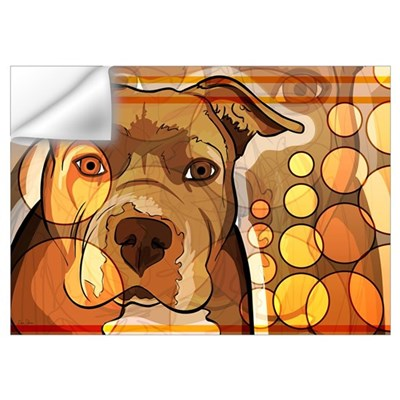 Abstract Dog Print Wall Decal