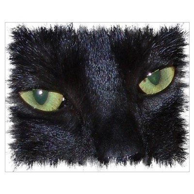 """Miru - the naughty black cat"" Poster"