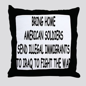 SEND ILLEGAL IMMIGRANTS TO IR Throw Pillow