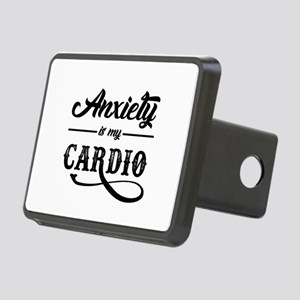 Anxiety Is My Cardio Rectangular Hitch Cover