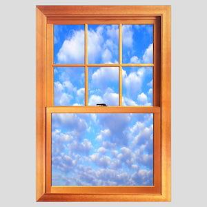 """Large Trompe l'Oeil Window 23 X 35"""""""