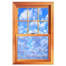 "Large Trompe l'Oeil Window 23 X 35"" Poster"