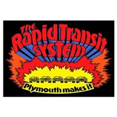 Rapid Transit System - Plymouth Framed Print