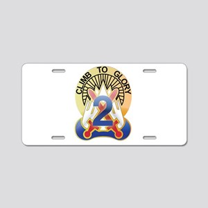 New Section10th Mountain - 2n Aluminum License Pla