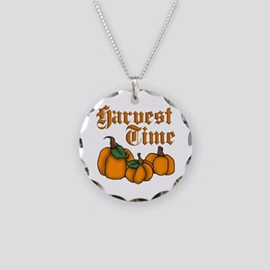 Harvest Time Necklace Circle Charm