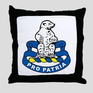 31st Infantry Regiment Throw Pillow