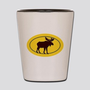 Moose Silhouette Shot Glass