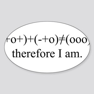PHYSICS MEETS PHILOSOPHY Oval Sticker