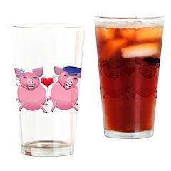 Happy porkies Drinking Glass