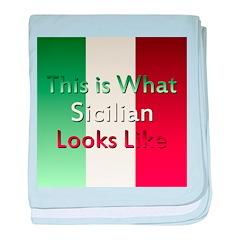 Sicilian baby blanket