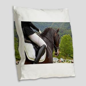 Dressage Burlap Throw Pillow