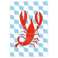 Lobster Print (Ready To Frame) Framed Print