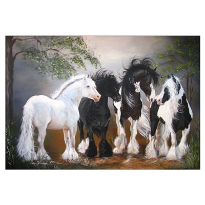 Gypsy Vanner Stallions Canvas Art