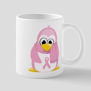 Breast Cancer Pink Penguin Mug