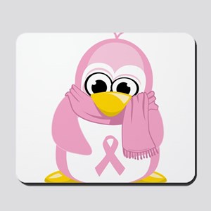 Breast Cancer Pink Penguin Mousepad
