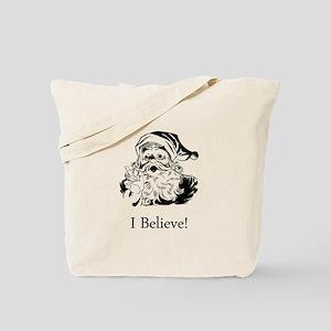 Santa I Believe Tote Bag