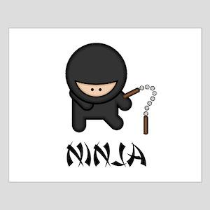 Ninja Nunchuck Small Poster