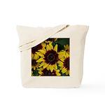 Yellow Brown Flowers Tote Bag