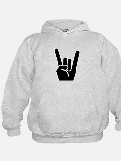 Rock Finger Symbol Hoodie