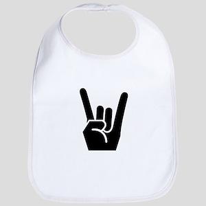 Rock Finger Symbol Bib