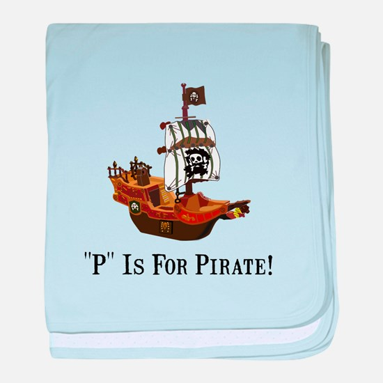 P Is For Pirate baby blanket