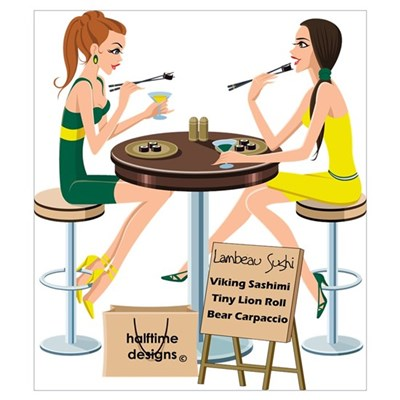 Packers Sushi Girls Poster