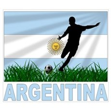 Argentina world cup soccer Framed Print