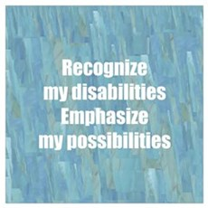 Disability Awareness Framed Print