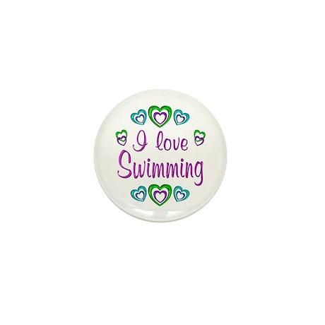 I Love Swimming Mini Button (10 pack)