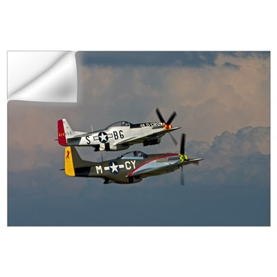 P-51 Mustang formation Wall Decal
