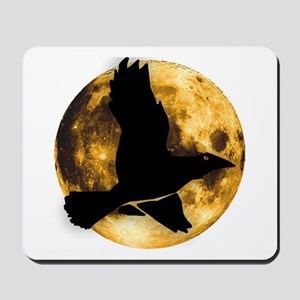 Full Moon with Raven Mousepad