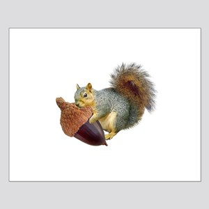 Squirrel with Acorn Small Poster