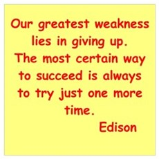 Thomas Edison quotes Poster