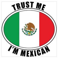 Trust Me I'm Mexican Framed Print