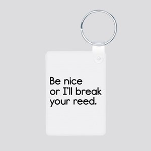 Break Your Reed Aluminum Photo Keychain