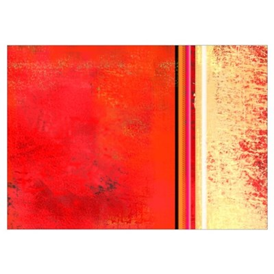 Abstract Red & Cream Poster