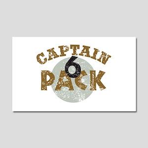 Captain 6 Pack Car Magnet 20 x 12